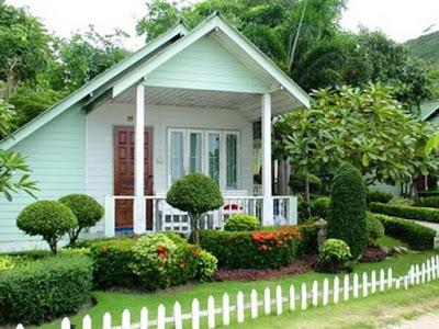 จัดสวนหน้าบ้าน พื้นที่น้อย