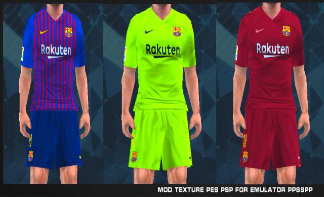 Barcelona 18 19 Leaked Kits Pes Psp For Emulator Ppsspp