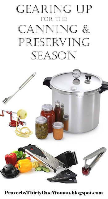 Gearing Up for the Canning and Preserving Season