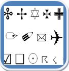 Símbolos ascii para INstagram, Facebook, Twitter