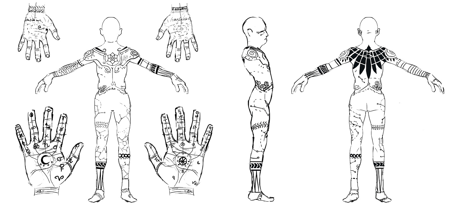 the killara human male template art blog of jonathan small