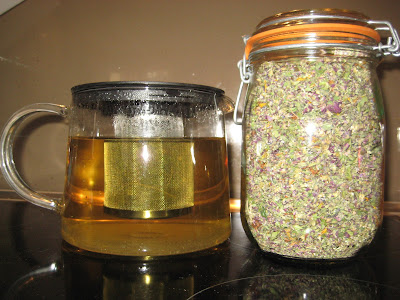home dried herbs and herbal tea