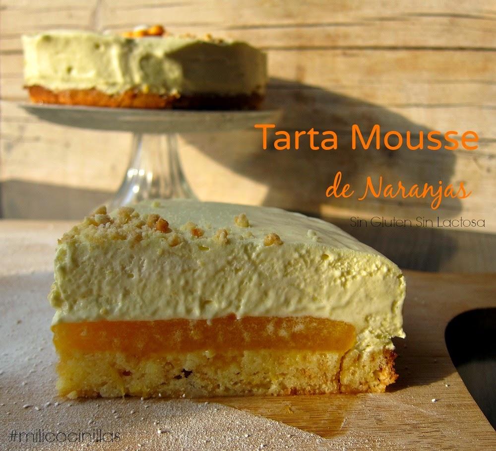 Tarta Mousse de Narajas Valencianas Sin gluten Sin Lactosa