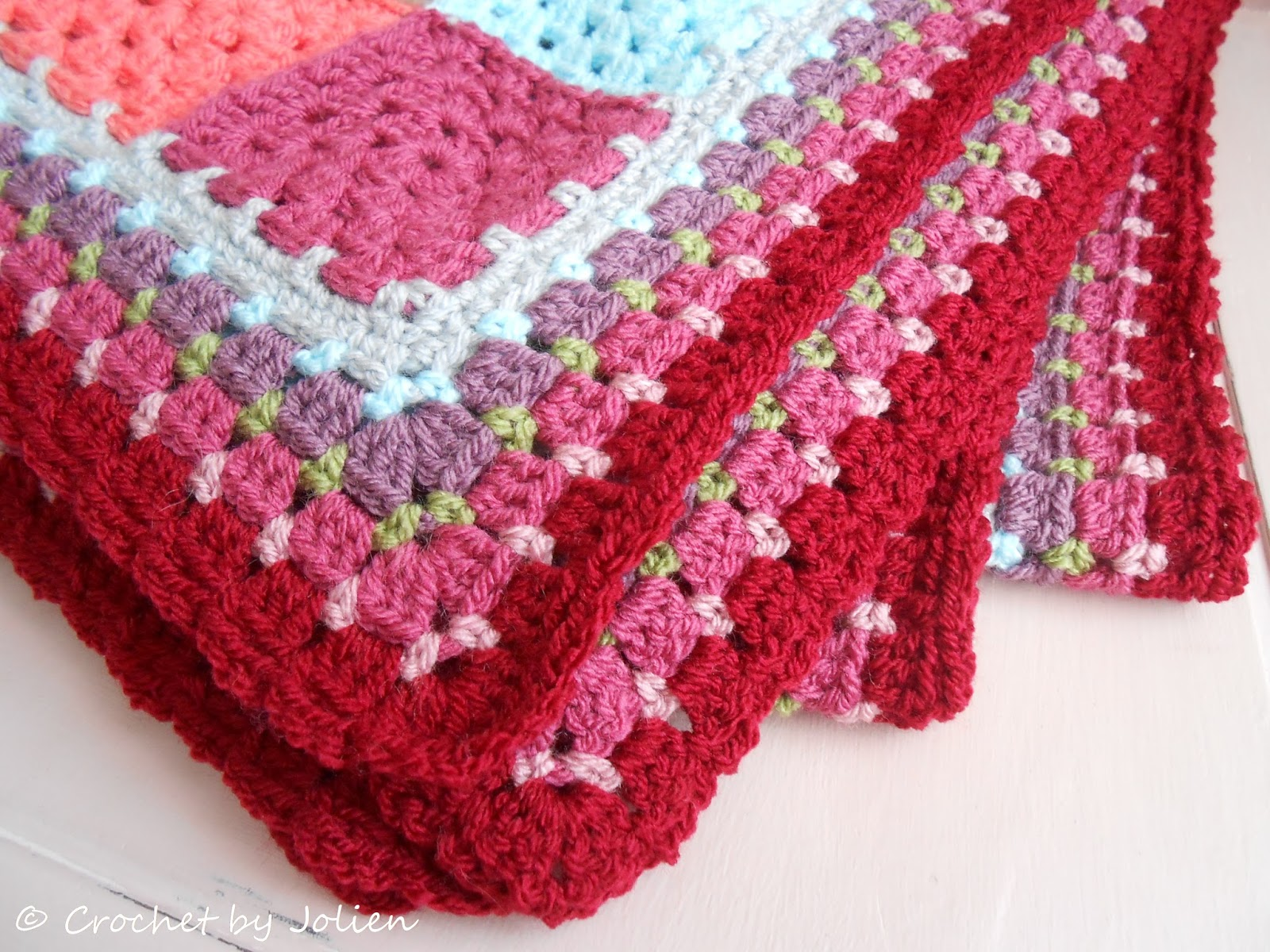 Crochet By Jolien Granny Square Deken Is Klaar
