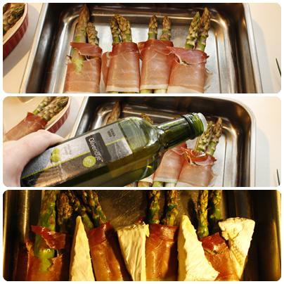 asparges med skinke oppskrift