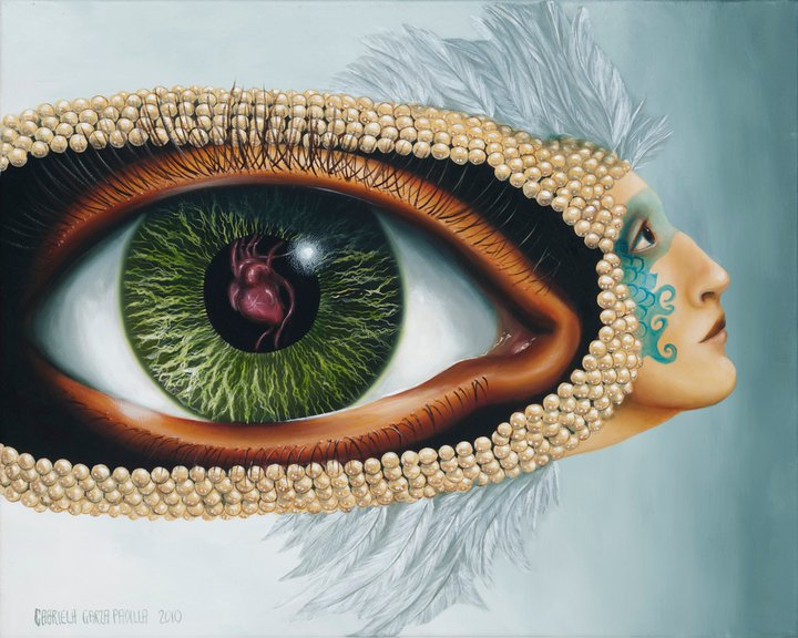 Gabriela Garza Padilla  NeoSurrealist painter  TuttArt  Pittura  Scultura  Poesia  Musica