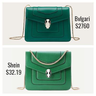 Designer Dupes Look For Less Bvlgari Serpinti Forever Bag