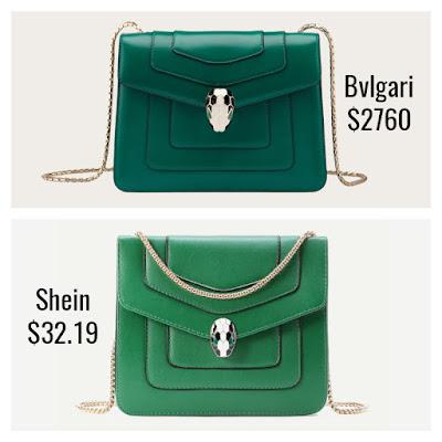 Designer Dupes Look For Less Bvlgari Serpinti Forever Bag