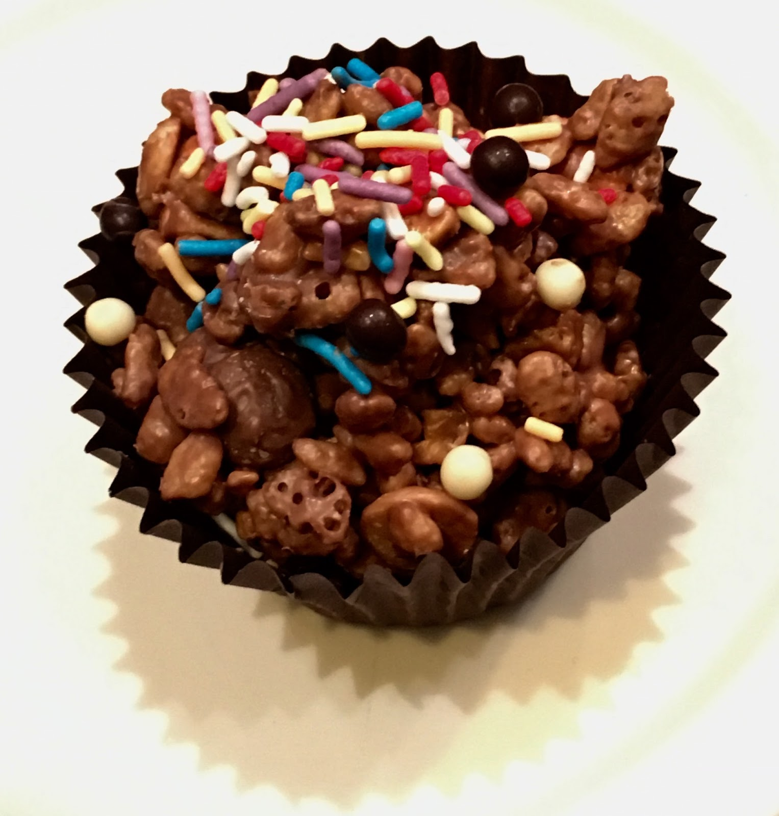 Chocolate rice crispy cake