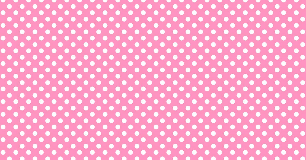 Dot Polka Free Borders Pink