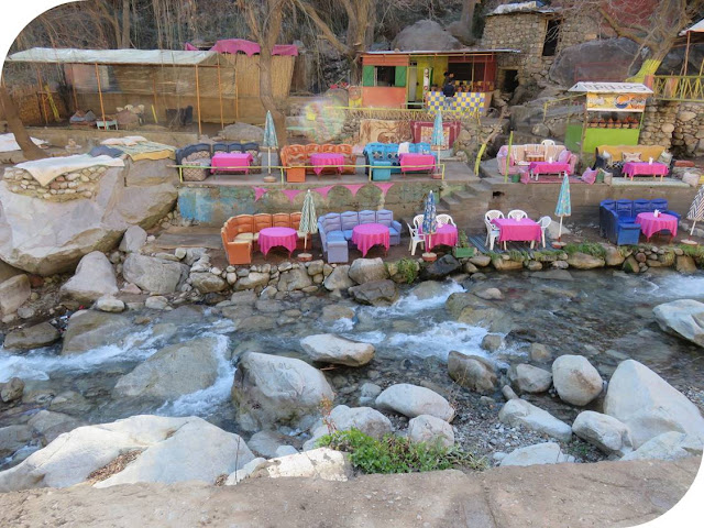 Long Weekend in Marrakech - Sidewalk Safari - Restaurants in the River in Ourika Valley