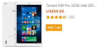 Teclast X80 Pro 32GB Intel Z8300 Quad Core 1.84GHz 8 Inch Dual Boot Tablet PC