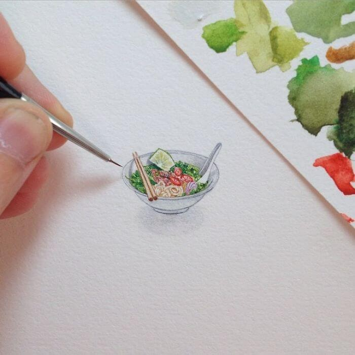 04-Bowl-of-Noodles-Brooke-Rothshank-Miniature-Paintings-www-designstack-co