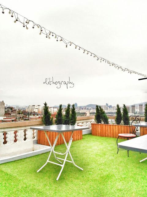 roof top di muslim stay, akomodasi ramah muslim di itaewon seoul