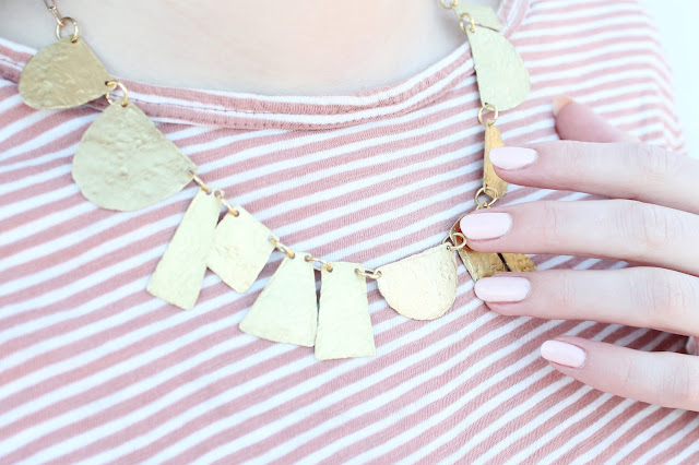 Make hammered brass jewelry
