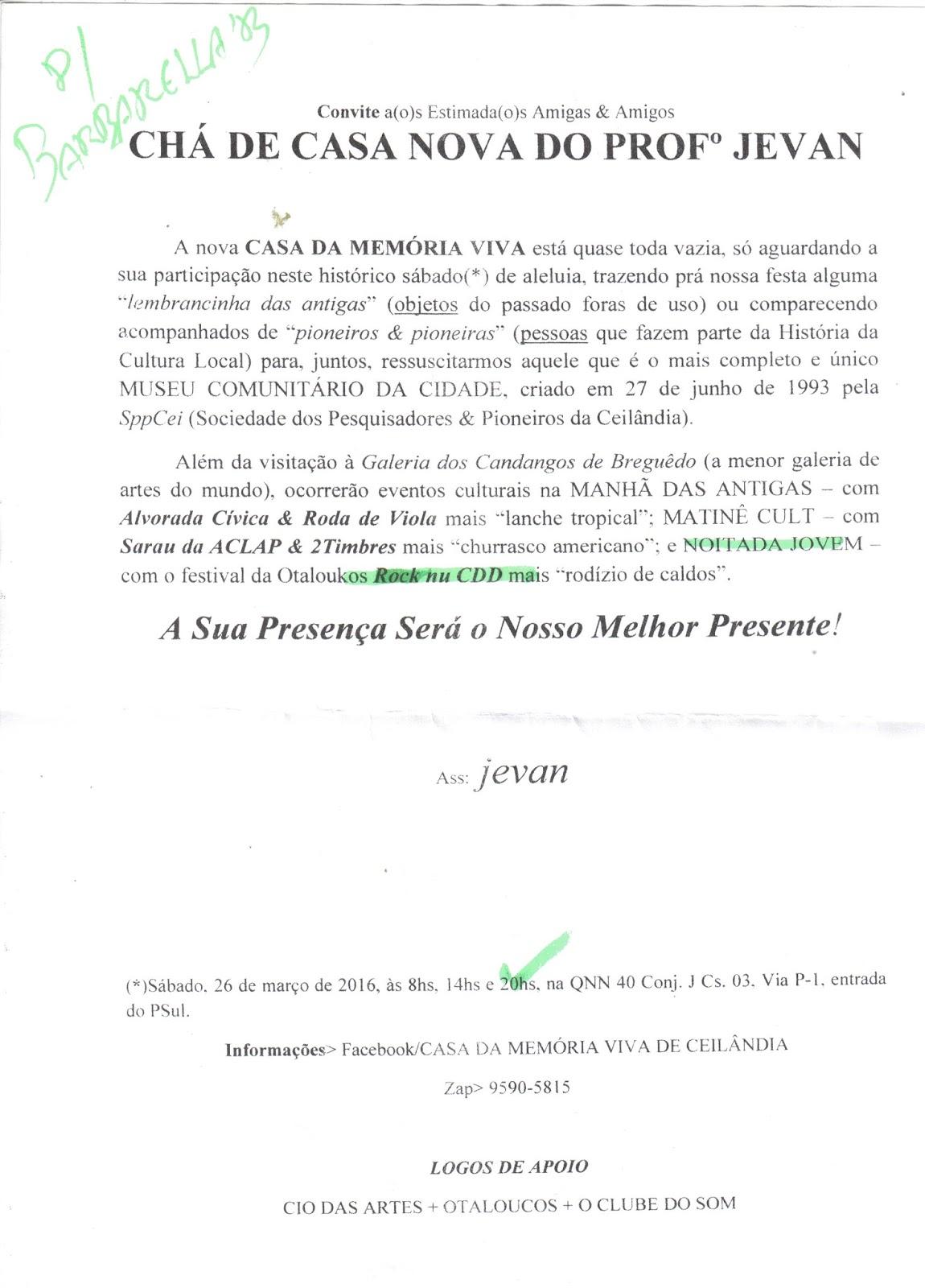 Radar Satélite Chá De Casa Nova Do Professor Jevan