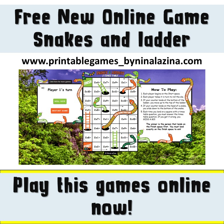 FREE ONLINE SNAKES AND LADDERS