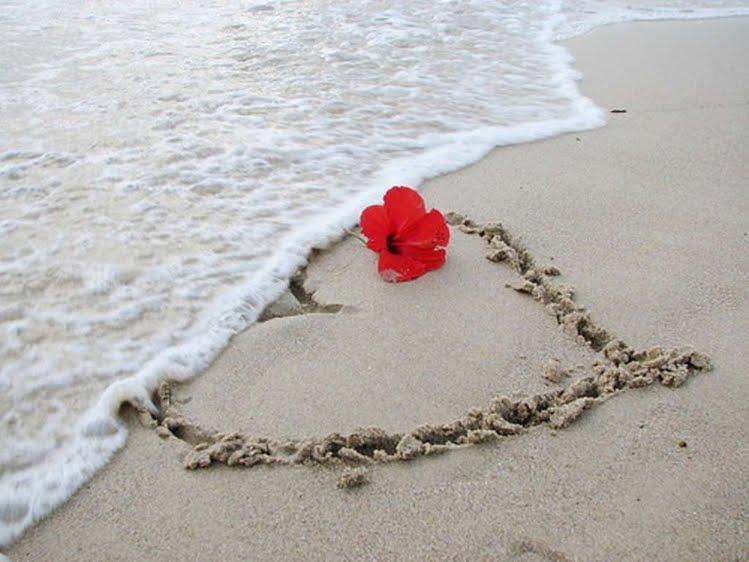 beach moments heart love - photo #16
