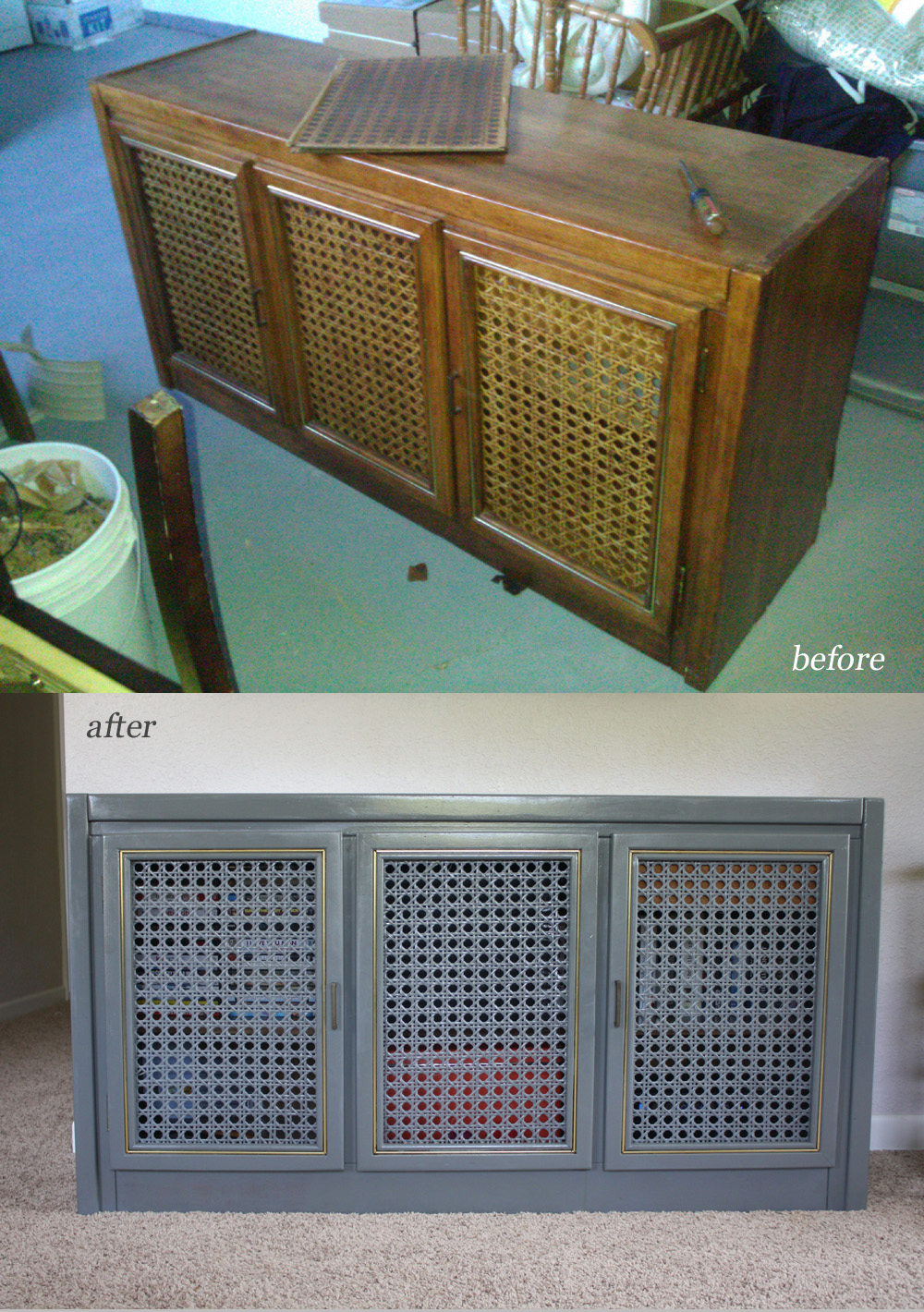 ber chic for cheap for the home before and after tv console. Black Bedroom Furniture Sets. Home Design Ideas