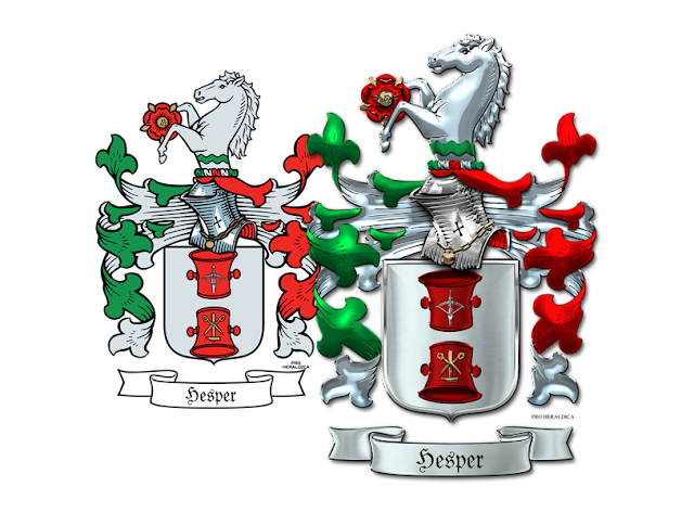 Heraldry workshop hesper family coat of arms for pro for Pro heraldica