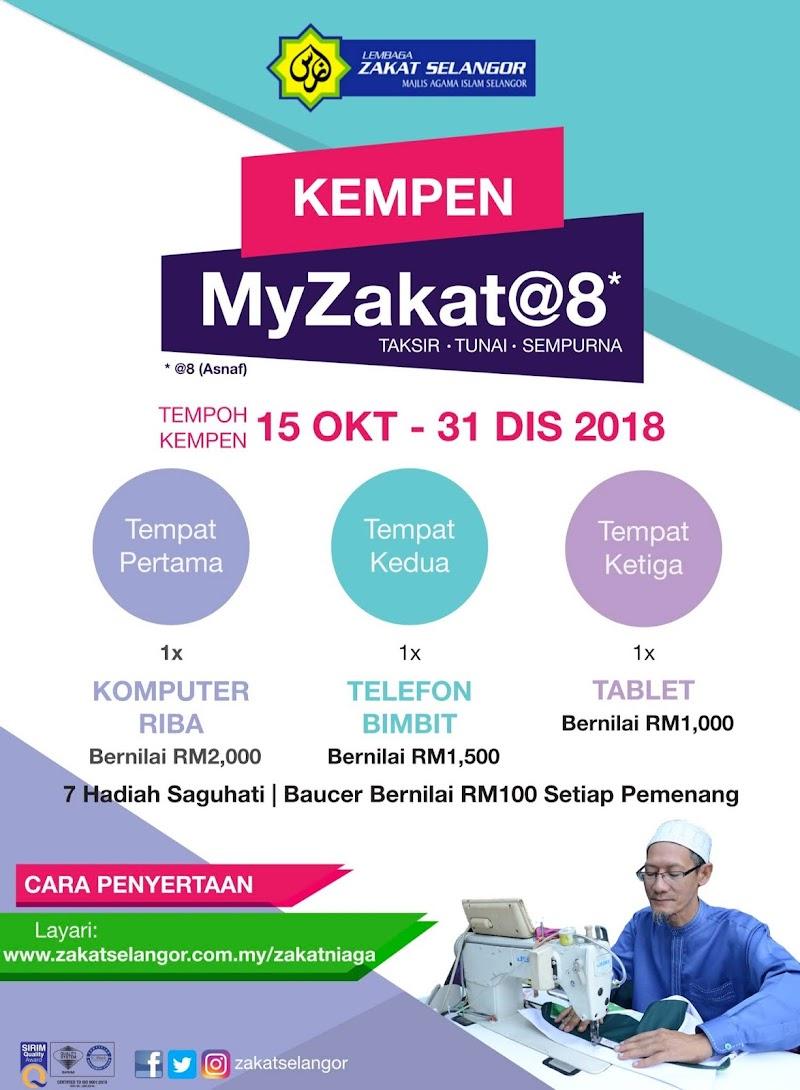 Kempen Zakat Perniagaan MyZakat@8 Bersama Lembaga Zakat Selangor