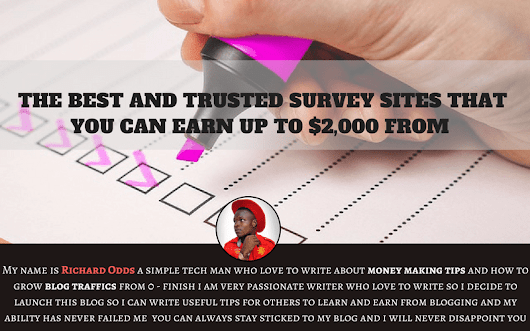 THE BEST AND TRUSTED SURVEY SITES THAT YOU CAN EARN UP TO $2,000 FROM