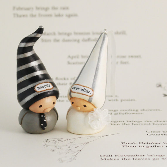 Bea's Wees Wedding Cake Topper Gnomes