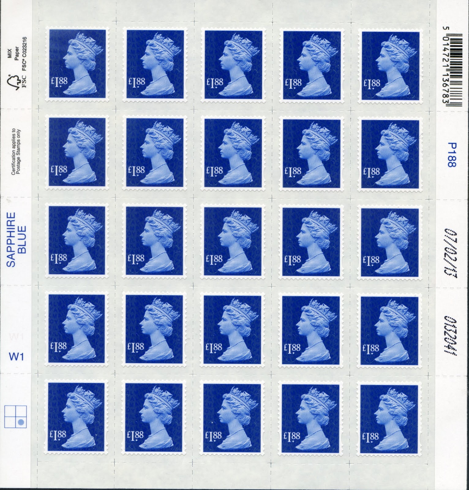 picture about Printable Stamps called Norvic Philatelics Web site: 27 March Clean Tariff Machin and