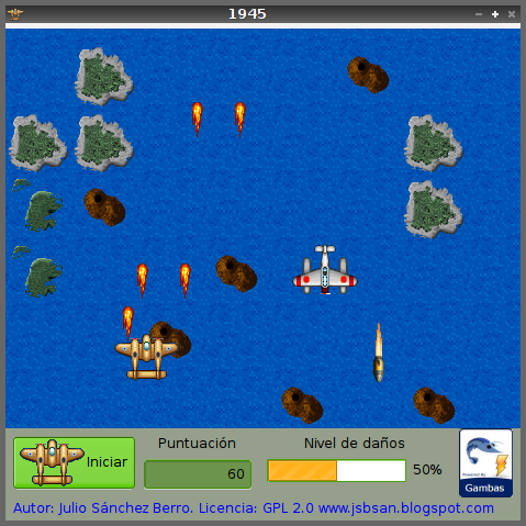 Gambas Mis Programas y el Softwarelibre: 1945 the game