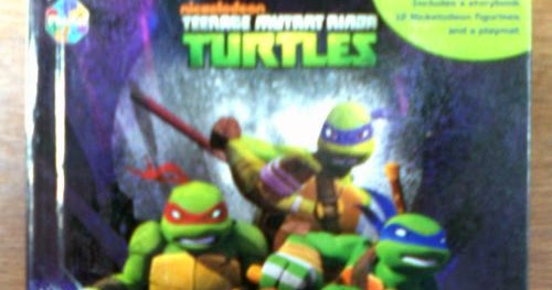 Awesome  Teenage Mutant Ninja Turtles BUSY BOOK with Play Mat u TOYS Cake Toppers