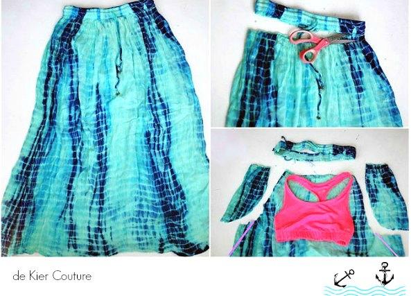 Transformar una falda maxi en un vestido playero