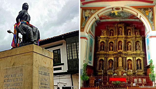 Monumento a La Pola e Igreja da Candelaria, Bogotá