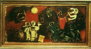 'Kiếp người' - tranh sơn mài của hoạ sĩ Hoàng Đình Tài được Giải thưởng nhà nước năm 2007.