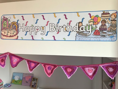 Happy Birthday banner from Twinkl