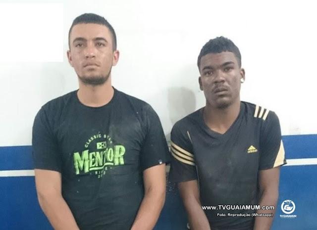 Bandidos são presos após roubarem uma caminhonete em Goiana