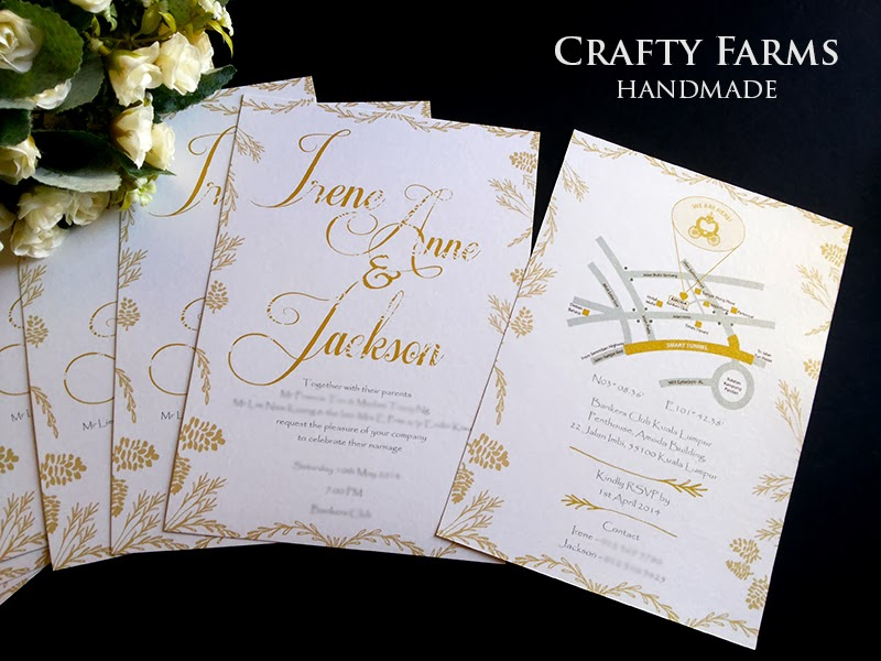 Wedding Card Malaysia Crafty Farms Handmade Rustic And