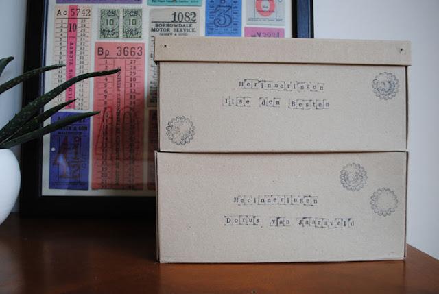 Kartonnen dozen voor deze DIY