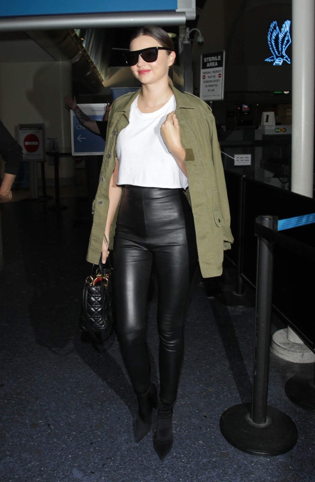 Lovely Ladies In Leather Miranda Kerr In Leather Pants