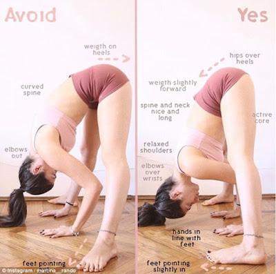 Salah satu posisi yoga yang berbahaya