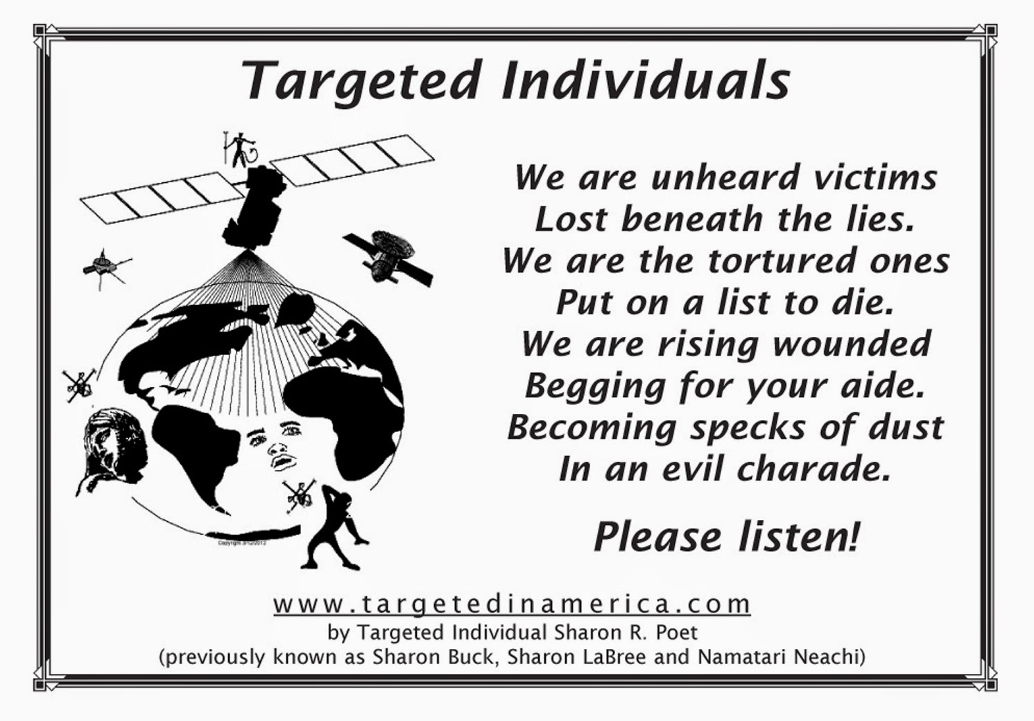 Ramblings of a Targeted Individual: Targeted Individuals - Who We Are