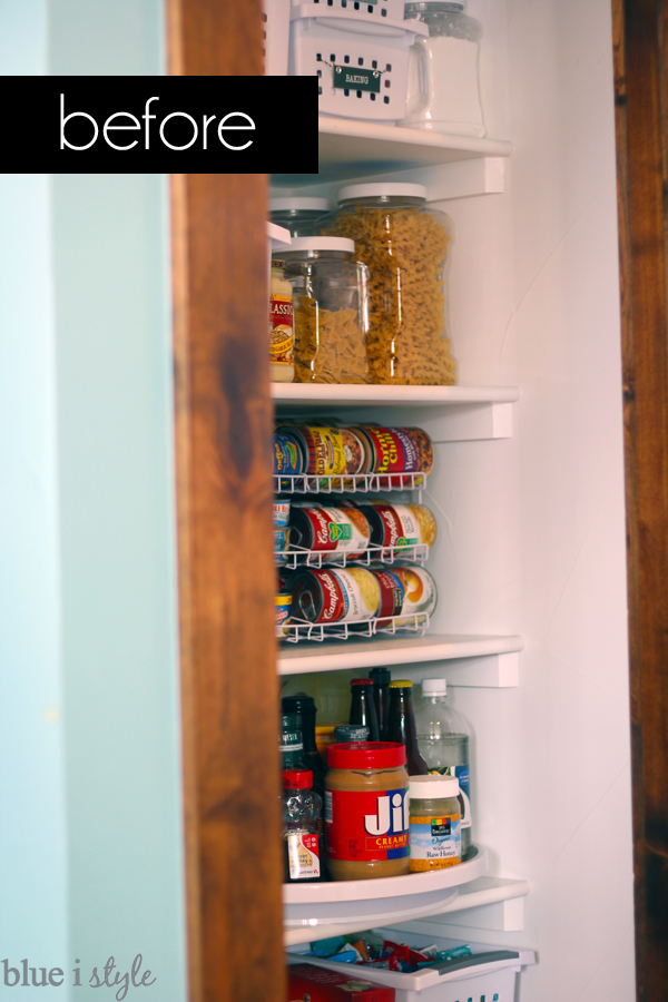 Empty wall of reach in pantry