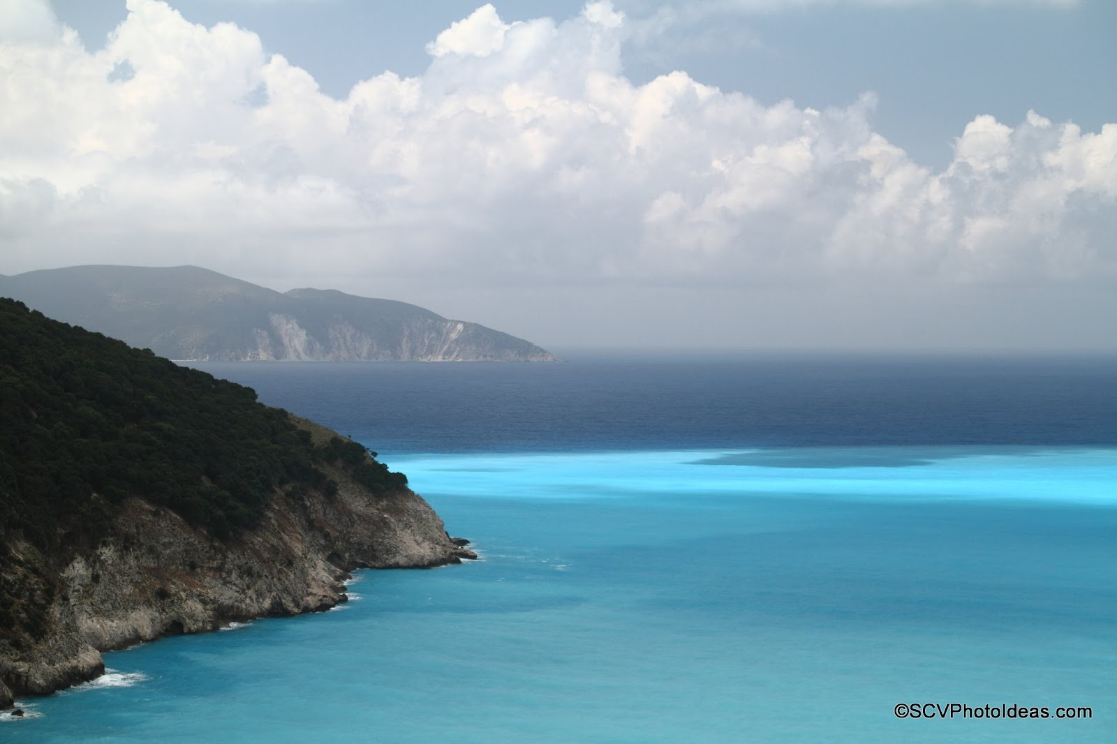 Myrtos Beach, Cephalonia bay overview