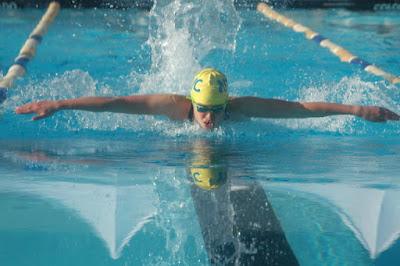 Bơi sải giúp giảm cân tại vùng bụng tay