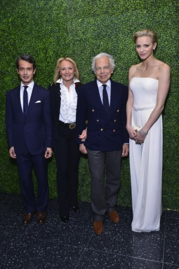 Princess Charlene attended the 'To Catch A Thief' Ralph Lauren screening celebrating the Princess Grace Foundation