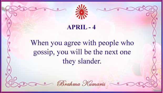 Thought For The Day April 4