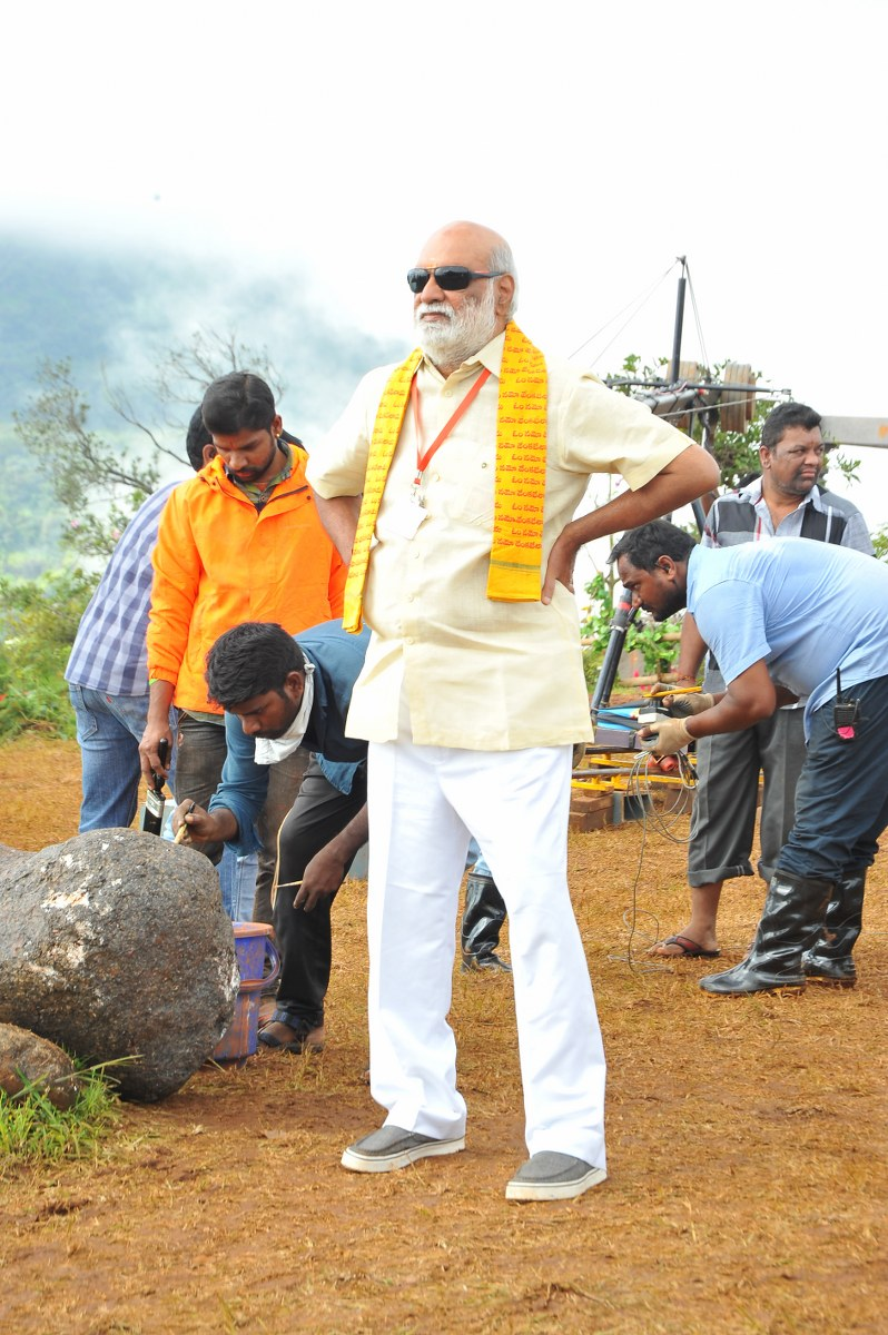 om namo venkatesaya working stills-HQ-Photo-14