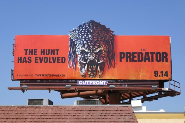 Predator movie cut-out billboard