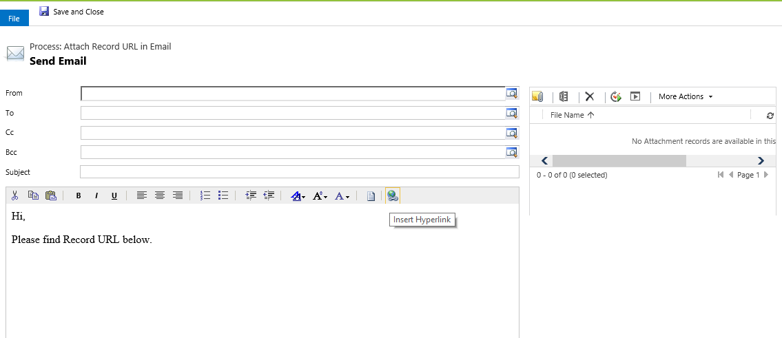 Arpit's Dynamics CRM Blog: Show Record URL in Email in CRM 2015