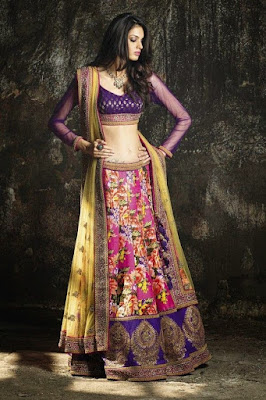 indian-women-party-ethnic-wear-lehenga-saree-designs