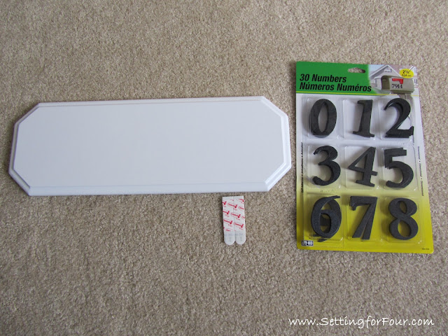 Easy DIY Address Plaque Makeover from Setting for Four #DIY # House address #Spray paint